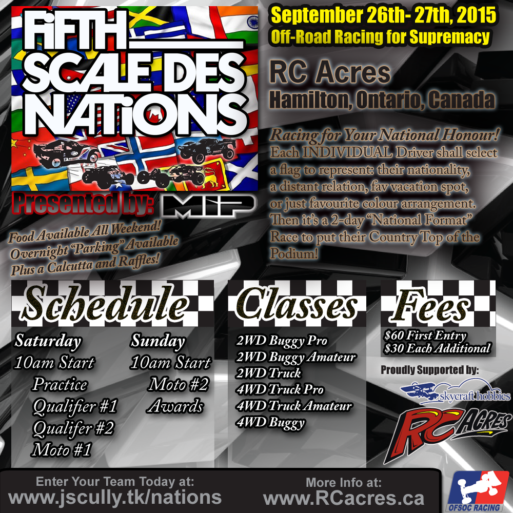 2015 Fifth Scale des Nations - Sept 26-27 - RC Acres, Hamilton, Ontario, Canada