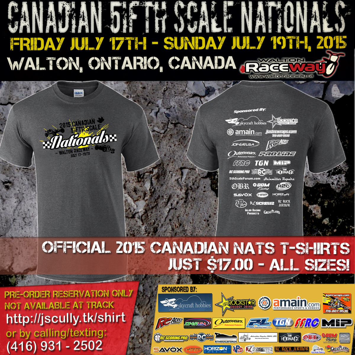 Article: The 2015 Canadian 5ifth Scale Nationals July 17-19, 2015.