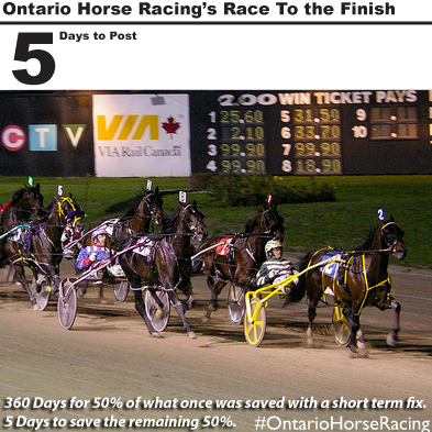 5 days to the end of the Slots at Racetrack Program in Ontario