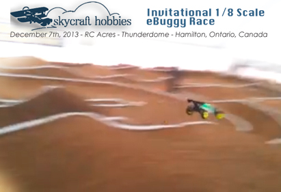 Skycraft Hobbies Invitational 1/8 Scale eBuggy Race inside the Thunderdome at RC Acres in Hamilton, Ontario