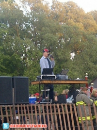 Joe Scully, ProRodeo MC rocking the Demo Derby