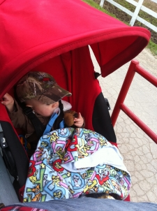 Marshall takes an amped up stroller ride