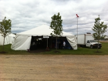 The first tradeshow tent at the Canada's Outdoor Equine Expo