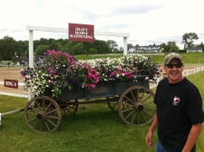 Nate gets ready to work the Wagons at Canada's Outdoor Equine Expo