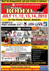 2013 Holstein Rodeo poster