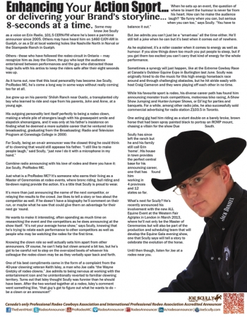 Advertorial for Professional Rodeo Announcer: Joe Scully, ProRodeo MC