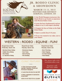 Junior Rodeo Clinic - London - Ontario - Western Fair District - High School Rodeo Events