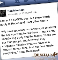 Tweet by Brad Keselowski found by Rodeo Rod MacBeth - great insight