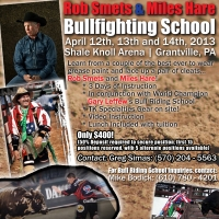 Rob Smets and Miles Hare Bullfighting School in Grantville, PA