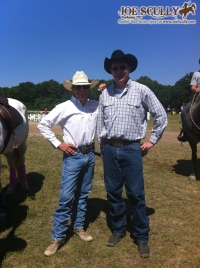 Craig Cameron and Joe Scully at the Extreme Cowboy Race at Canada's Outdoor Equine Expo in Burlington, Ontario