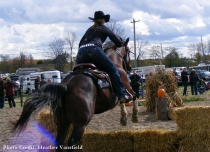 Straw Jump in the Extreme Cowboy Race in Norwood - Jennifer Postma