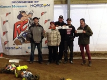 Champions of the Inaugural Invitational 1/8 Scale eBuggy Race at RC Acres Hamilton