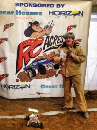 RC Race Director Scully at the Inaugural Invitational 1/8 Scale eBuggy Race at RC Acres Hamilton