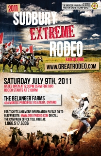 2011 Sudbury Azilda Extreme Events of Rodeo Poster