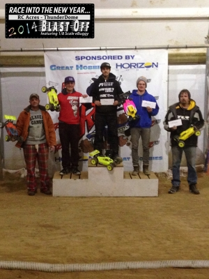 Race in the New Year - 2014 Blastoff - eBuggy - Top-5 Podium